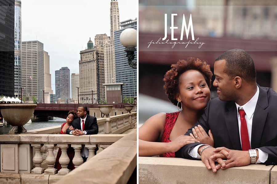 downtown Chicago Engagement Photography