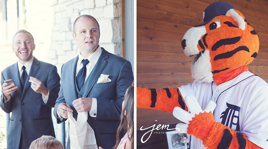 Paws Detroit Tiger Wedding, Toledo Ohio wedding photographer